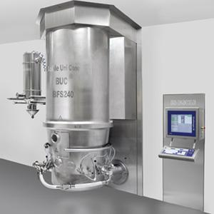Using a tangential fluid bed system represents state of the art technologyfor particle coating, granulation and drying. More productive, practical and precise than Wurster processing.