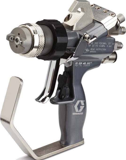 pistolet RS pour applicatin des gel coats et résines polyester. Existe avec ou sans coupeur, en mélange interne ou externe