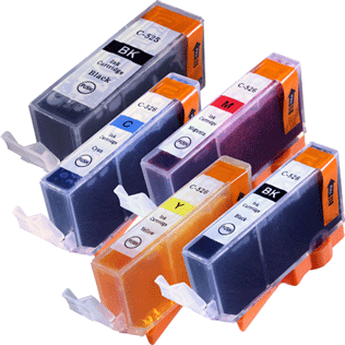 Ink cartridges compatible to PGI-525/CLI-526 -chip-