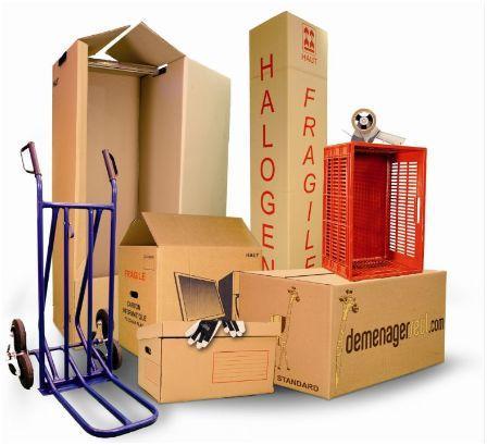 Vente de cartons de déménagement toutes dimentions et usages et de tout le matériel de protection-housse matelas, housse pour fauteuil et canapé, couvetures etc..Location de chariots, diables etc