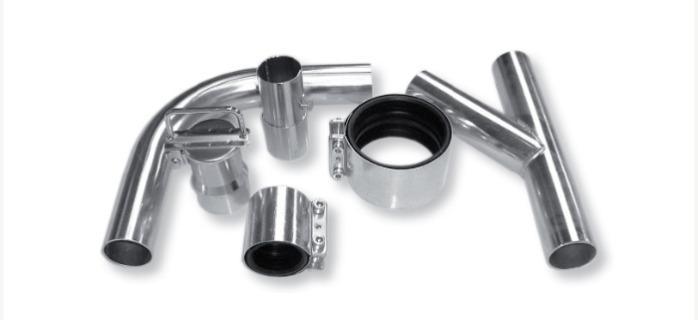 Bauteile für Hochvakuumanlagen