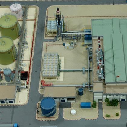 maquette industrielle de la centrale diesel electrique à Dakhla maroc