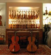 Large gamme d'instruments du quatuor à cordes (violon, alto, violoncelle), de l'instrument d'étude aux instruments français, allemands et italiens du I7  au 20ème siècle, dont les plus prestigieux.