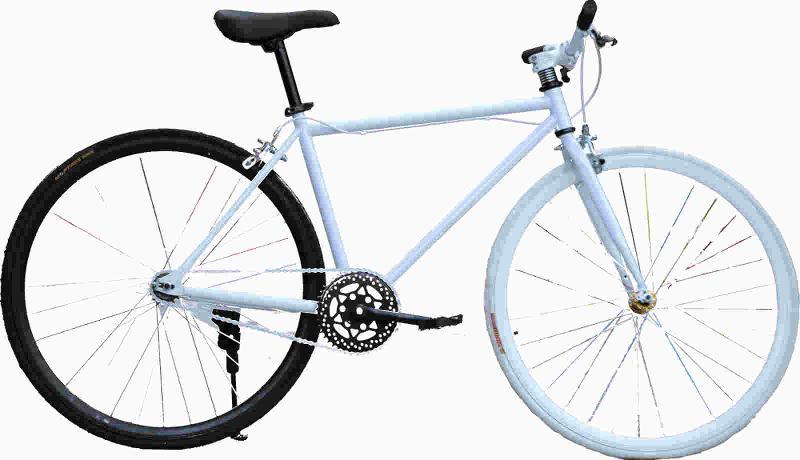 Fixed gear bike / White-Black