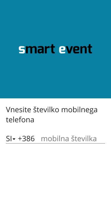 Smart Event app - Start screen