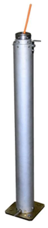 Pneumatic telescopic mast