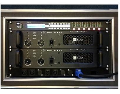 Custom wired amp racks for turn-key systems