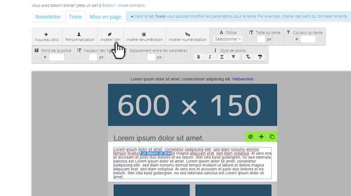 Créez une newsletter en quelques minutes avec l'éditeur intuitif de Newsletter2Go.