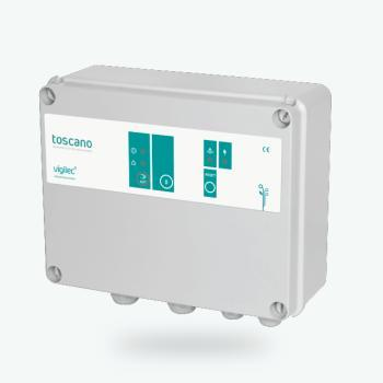 Cuadro de control y protección de 1 bomba monofásica/trifásica 230/400 VAC seleccionable, hasta 25A - Control and protection panel for 1 single/three-phase pump 230/400 VAC selectable, up to 25A