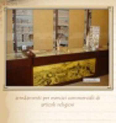 Arredamenti per esercizi commerciali di articoli religiosi