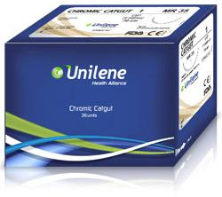 Chromic Gut, ABSORBABLE sutures, whose main component is collagen, obtained from the serous of the sub-mucous of cattle intestine.