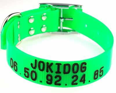 JOKIDOG . Vente en ligne de colliers personnalisé , collier gravé pour chiens de chasse . ou la promenade .
