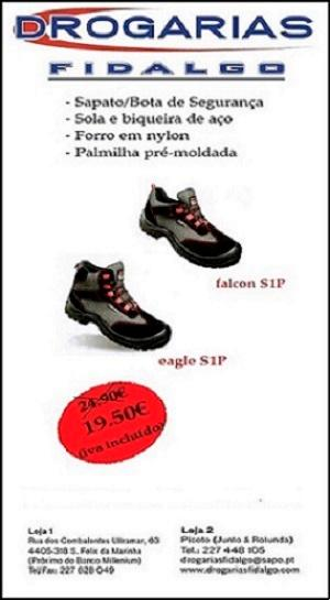 Safety boot and shoe whit midsole and toecap in steel, insole premoulded. Size range 37-47