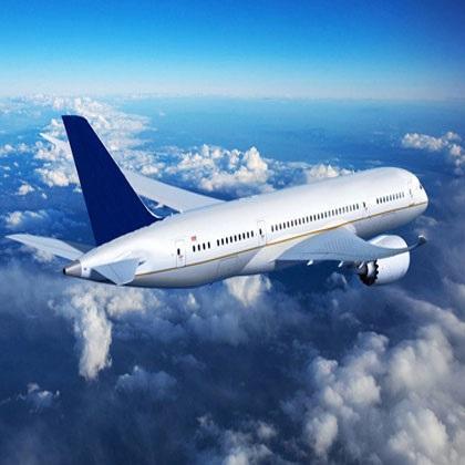 International air transport of goods.