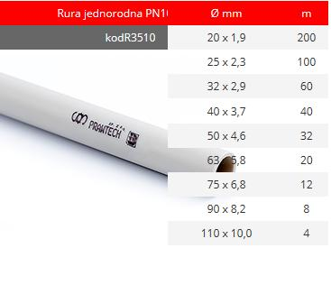 Homogeneous pipe PN1. R3510 code.