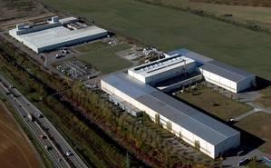Aerial view of ArcelorMittal Dudelange