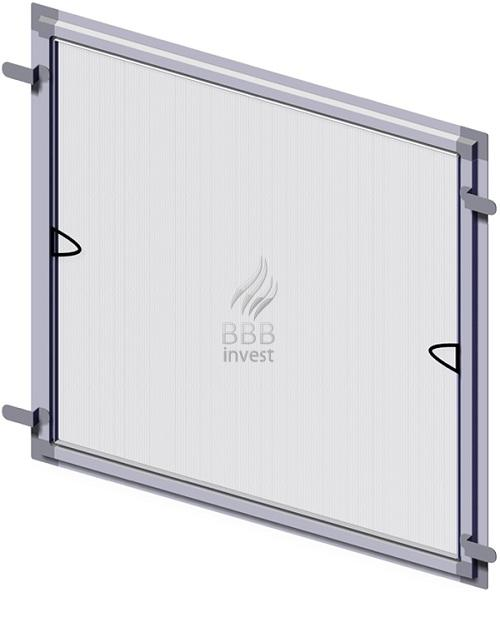 B'SMART Fixed Insects Screens are made out of extruded aluminium profiles (17mm x 25mm), electrostatically painted, assembled at an angle of 90°.