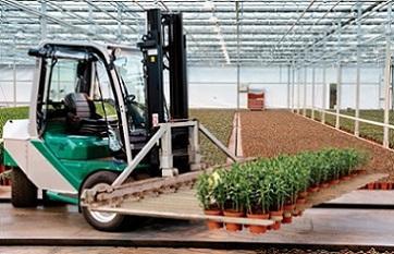 Prins Maasdijk heeft naast de lijn heftrucks speciaal geselecteerd voor de tuinbouwsector een complete nieuwe lijn heftrucks ontwikkeld.