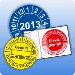 Prüfplaketten & Kabelprüfplaketten kostengünstig & schnell online direkt vom Hersteller! Unterschiedlichste Ausführung für die Kennzeichnung von Wartungs- & Prüfintervallen (z.B. geprüft nach BGV A3).