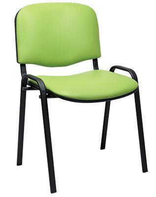 sedia attesa venere in ecopelle verniciata nero