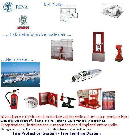 Servizi di controllo antincendio. Progettazione e realizzazione impianti antincendio. Collaudo, manutenzione, adeguamento impianti prevenzione incendi.