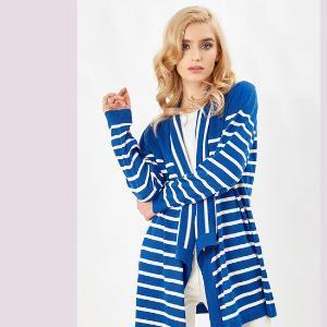 Knitwear blue white stripe
