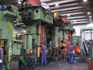 Production line with presses