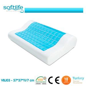 Orthopedic memory foam pillow with cooling gel helps you to reduce neck pain and prevents sweating problems while you are sleeping.