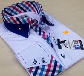 Reverse collar mens shirts