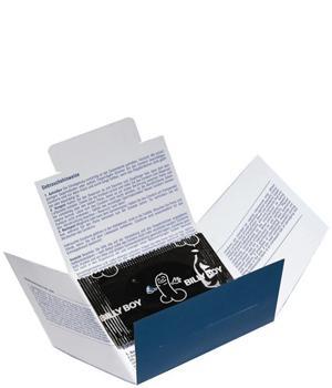 Kondombriefchen für Ihre Werbung mit Kondomen bekannter Marken wie ua. Durex, BillyBoy oder Blausiegel