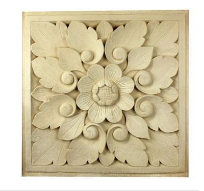 Kalkstein Stein Relief Lotusblume