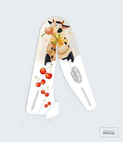 It is a smart one, V Spoon  has to be folded, untill it doesn't- spoon is absolutely flat- thats where grafic or print, company messase, brand, logo any image might be printed