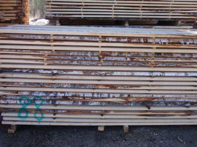 Unedged birch sawn timber