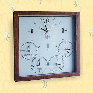 Ahşap ve ayna duvar saatleri, Dünya duvar saatleri. world clocks wooden and mirrior