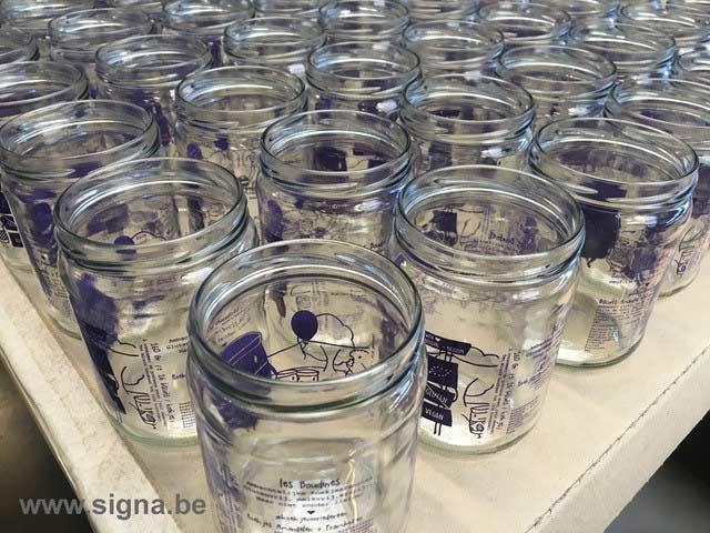 Impression pots en verre