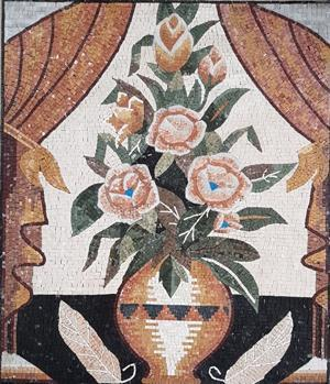 A Wreath of Flower in a Vase