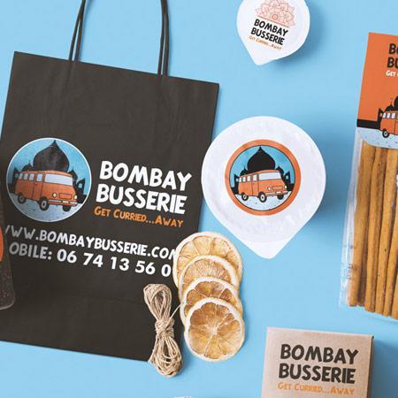 Bombay Busserie branding