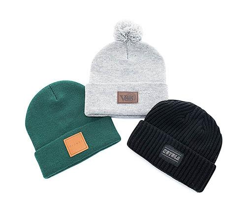 Made of acrylic for a great durability, all our beanies are entirely custom made. Choose the size, the colors, the embellishment options, add a pompom, remove the cuff. Contact us for a quote today!