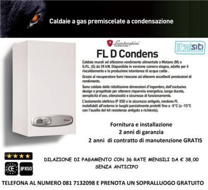 Finanziamento tutto incluso: € 38,00 x 36 mesi altre info su: http://www.italsiti.eu/installazione-caldaie.html