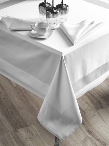 Tischdecken mit Atlaskante