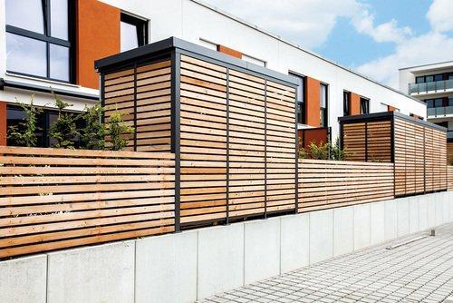 Einhausung aus Holz