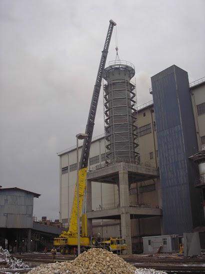Big silo erection