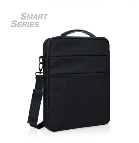 "Convertible laptop bag backpack, original design ""Smart Series"", you can carry it as  briefcase, shoulder bag or backpack."
