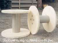Bobine in legno con tamburo in PVC
