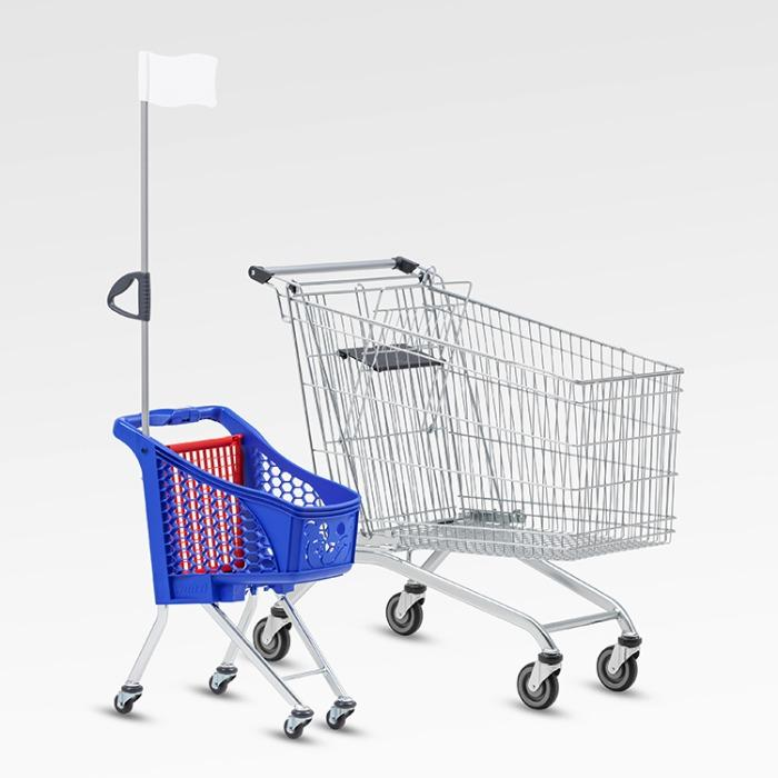 Shopping trolleys made of wire or plastic