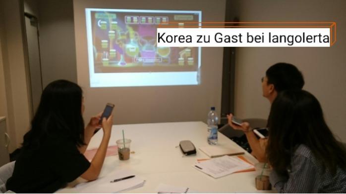 Koreanische Lerngruppe im Präsenzunterricht