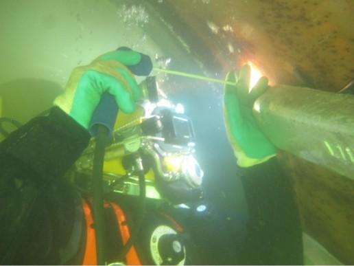 We have certified Dive/technicians, for all your Underwater welding