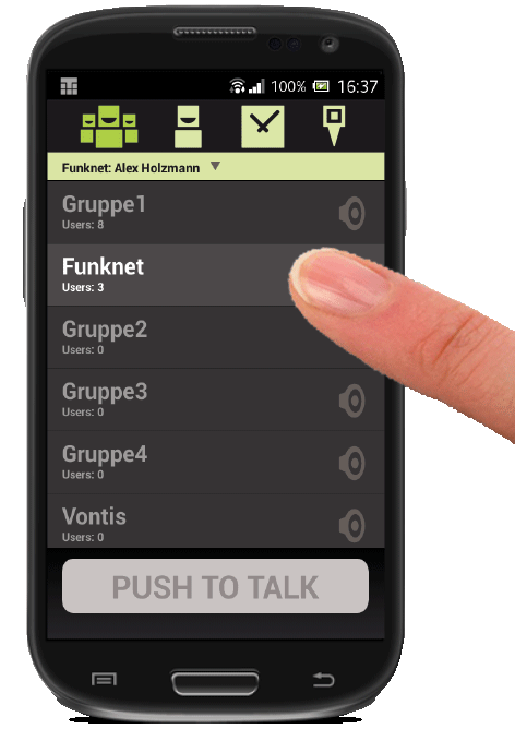 Push-To-Talk Button