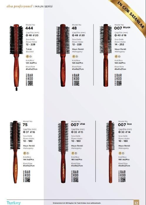 Maun Serisi Erkek Tarama Fırçaları