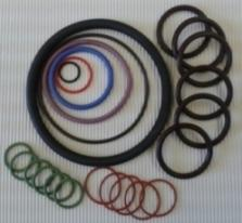 O-Ringe aus allen handelsüblichen Materialien auch FFKM, FKM, Fluorsilikon, Aflas, HNBR etc.